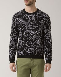 Kenzo Black Crew Neck Antonio Lopez Print Sweater