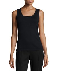 Michael Simon Solid Knit Tank Black Petite