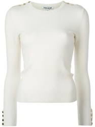 Elizabeth And James Gabrielle Knitted Blouse White