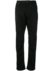 Emporio Armani Straight Cut Jeans Black