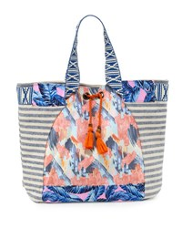 Maaji Multi Print Beach Tote Bag