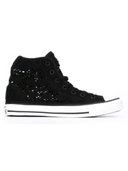 Converse Crochet Sneakers Black