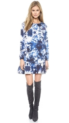 Cynthia Rowley Exaggerated Ruffle Dress Space Dye