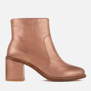 Paul Smith Ps By Women's Luna Leather Heeled Ankle Boots Copper Metallic Gold