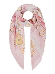 Guess Jacqui Chain And Logo Scarf Rose