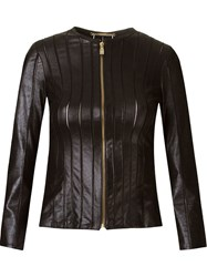 Versace Collection Collection Jaquetacouro Preto Leather Women Leather Polyamide Spandex Elastane 42 Black