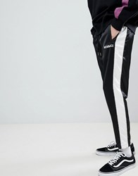 Mennace Joggers In Black Sateen