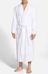 Men's Majestic International Fleece Lined Robe White