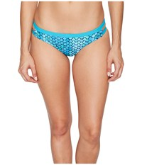 Speedo Double Band Bottom Blue Green Women's Swimwear