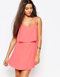 Abercrombie And Fitch Crepe Overlay Dress Pink