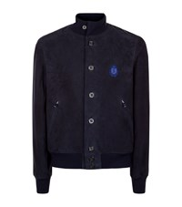 Billionaire Suede Bomber Jacket Male Midnight