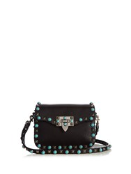 Valentino Rockstud Rolling Leather Cross Body Bag Black
