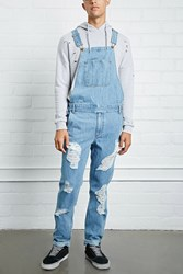 Forever 21 Distressed Denim Overalls