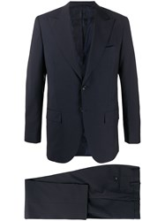 Kiton Formal Single Breasted Suit Blue