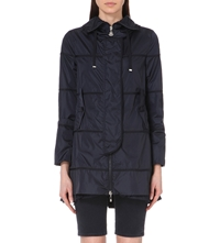 Moncler Frill Hem Trench Coat Navy