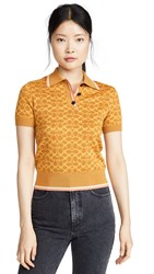 Coach 1941 Fitted Polo Top Yellow