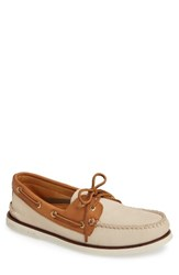 Sperry Men's 'Gold Cup Authentic Original' Boat Shoe Ivory Tan