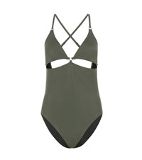 Alexander Wang One Piece Swimsuit Green