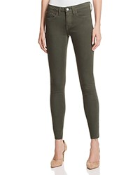 Jean Shop Heidi Skinny Raw Hem Jeans In Power Stretch Olive