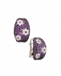 Roberto Coin Fantasia 18K Rose Gold And Amethyst Half Hoop Earrings
