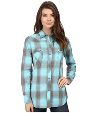 Roper 0435 Thorn Plaid Blue Women's Clothing