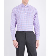 Eton Contemporary Fit Cotton Shirt Pink Red