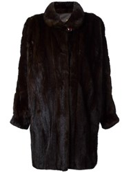 Fendi Vintage Mink Fur Coat Brown