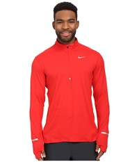 Nike Dri Fit Element Half Zip Pullover University Red Reflective Silver Men's Long Sleeve Pullover
