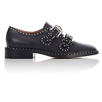 Givenchy Women's Studded Double Monk Strap Shoes Black