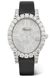 Chopard L'heure Du Diamant 34.10Mm 18 Karat White Gold