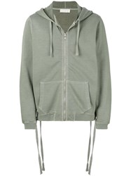 Faith Connexion Zipped Hoodie Green