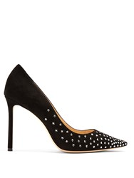 Jimmy Choo Romy 100Mm Crystal Embellished Pumps Black Multi