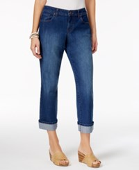 Style And Co Petite Curvy Fit Riverside Wash Capri Jeans Only At Macy's