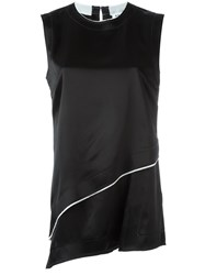 Dkny Satin Tank Top Black