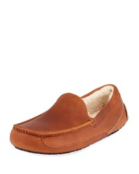 Ugg Ascot Pinnacle Horween Leather Slippers Brown