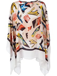 Fendi 'Rainbow' Kaftan White