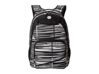 Roxy Shadow Swell Ikat Barstripe Backpack Bags Black