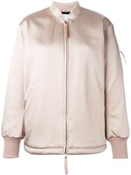 Alexander Wang T By Long Length Bomber Jacket Pink Purple