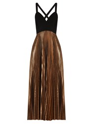 A.L.C. Alba V Neck Pleated Dress Rose Gold