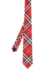 Burberry Classic Cut Vintage Check Silk Tie Red