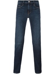 Frame Denim Long Skinny Jeans Blue