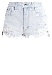 Superdry Hannah Denim Shorts Bleach Destroyed Denim