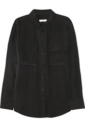 Equipment Signature Washed Silk Shirt Black