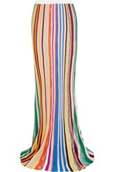 Missoni Striped Crochet Knit Maxi Skirt Multi