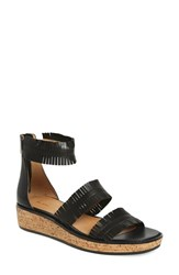 Women's Bettye Muller 'Marque' Fringe Sandal Black Leather