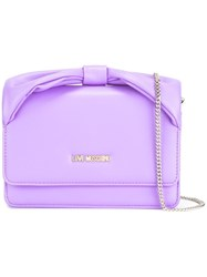Love Moschino Chain Strap Crossbody Bag Pink Purple