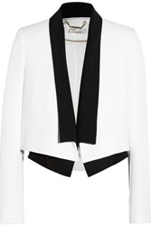 Chloe Layered Crepe Blazer White