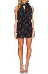 Cece Dancing Bouquets Romper Rich Black