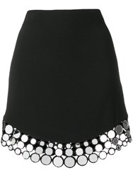 David Koma Circle Hem Detail Skirt Black