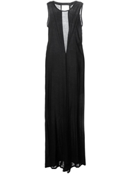 Ann Demeulemeester Open Back Gown Dress